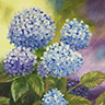 painting entitled Hydrangeas