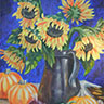 painting entitled Kelley's Sunflowers